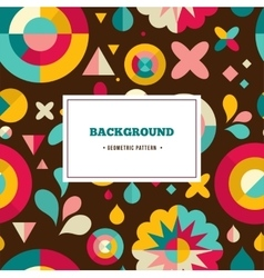Geometric pattern ans background vector
