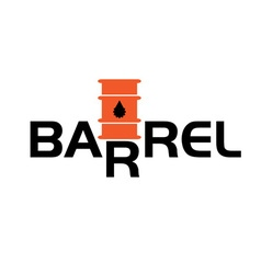 Fall and rise of oil barrel prices vector