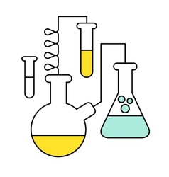 Research and science harmony series icons vector