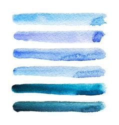 Watercolor stripes vector