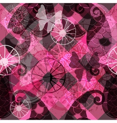 Seamless dark purple pattern vector