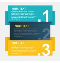 Colorful text boxes options banner vector