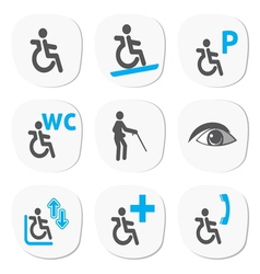 Disabled people signs vector