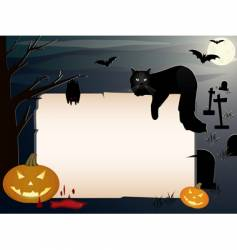 Halloween background with copy space vector