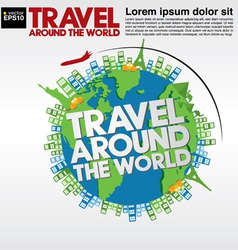 Travel around the world conceptual ve vector