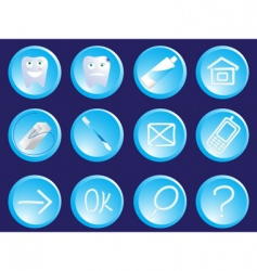 Dentist icons vector