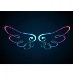 Shining wing vector