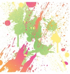 Grungy design colorful blot element vector