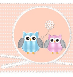Card with owls vector