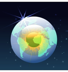 Eyeball globe in space vector