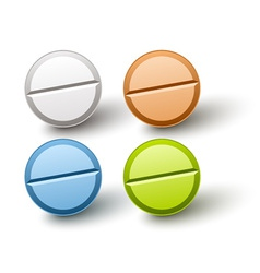 Stylish colored pills vector
