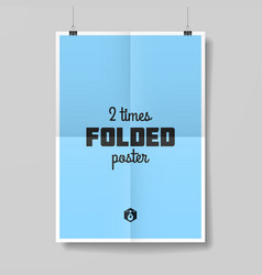 Two times folded poster vector
