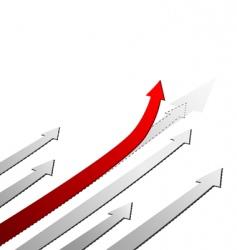 Red arrow up success concept vector