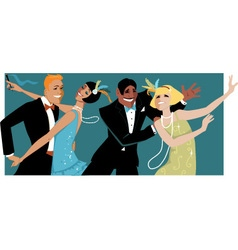 Roaring 1920s party vector