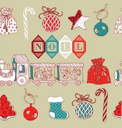 Vintage christmas noel background vector