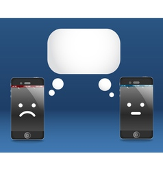 Modern phones with speech cloud conversation vector