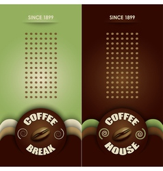 Coffee menu vector