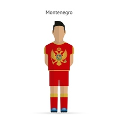 Montenegro football player soccer uniform vector