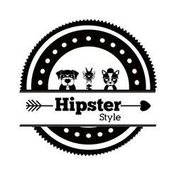 Hipster animal design vector