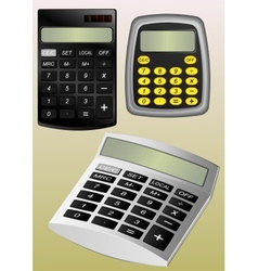 Three types of calculators vector