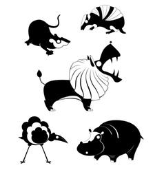 Original art animal silhouettes vector