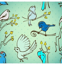 Seamless pattern birds vector