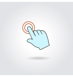 Hand with touching a button or pointing finger vector