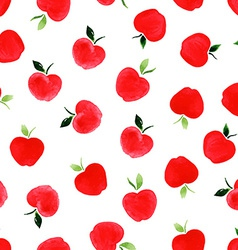 Pattern with apples vector