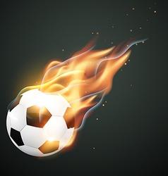 Illlustration of burning football vector