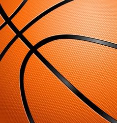 Closeup of a basketball vector