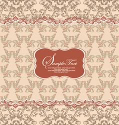 Beautiful vintage floral card vector