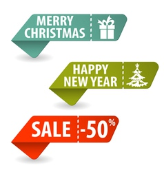Collect christmas signs vector