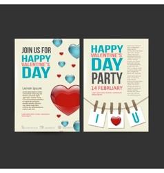 Brochure flyer happy valentines day design vector