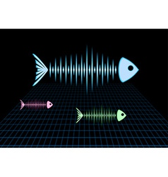 Sonar fishes vector