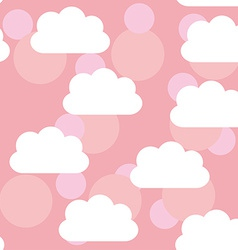 Seamless pattern sunset sunrise sky clouds pink vector