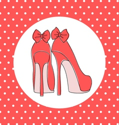 Elegant high heels vector