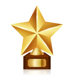 Gold star award vector