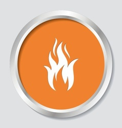 Fire warning symbol vector
