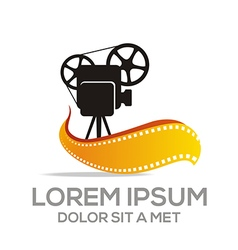 Logo movie video cinema vector