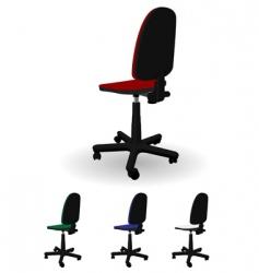 Office armchair vector