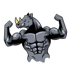 Muscular rhino vector