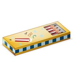 A pencil case vector