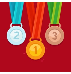 Three winning places concept vector