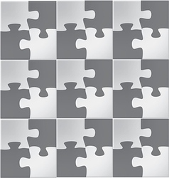 Abstract jigsaw puzzle vector