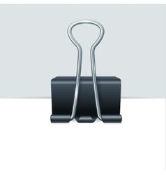 Metal binder clip with paper vector