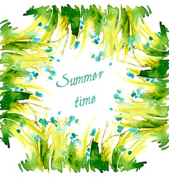 Green floral summer background vector