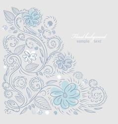 Summer floral design vector