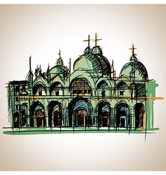 Venice church vector