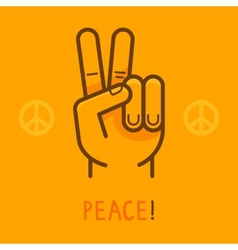 Peace sign - hand showing two fingers vector