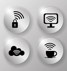 Wi-fi design vector